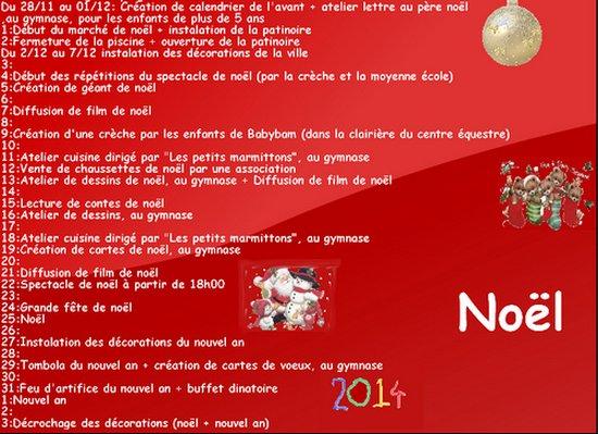 Programme de noël et nouvel an