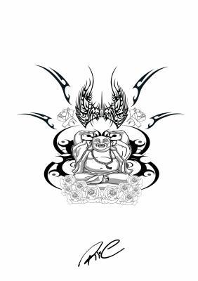 Bouddha rieur pour tatoo mes dessins de moi rien qe de moi - Dessin de bouddha a imprimer ...