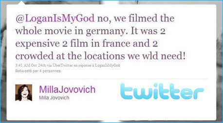 . Pas de tournage en France... .