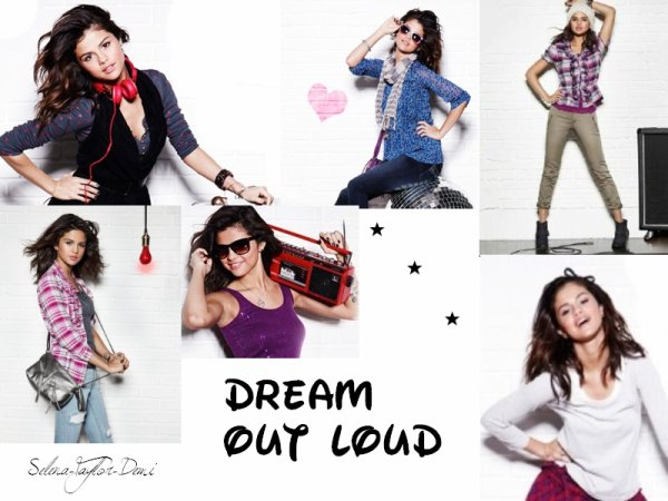 NEWS de Selena. Photoshoots promotionnel = Dream Out Loud.