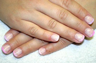 stamping nailart pink-star www.hbnails.at