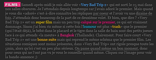 Article n°4/////Film (Very Bad Trip 2) ; Clip (Man Down)
