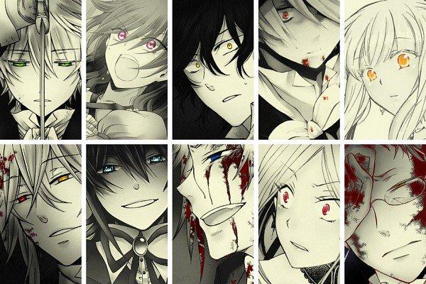 Il y a presque tout mes persos préférer de Pandora Hearts sur cette image!! <3