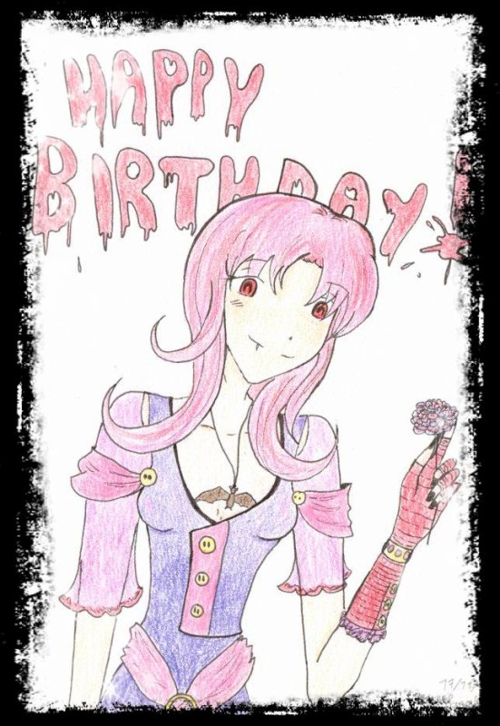 Dessin pour Machika! Joyeux anniversaire!!! <3 ^^