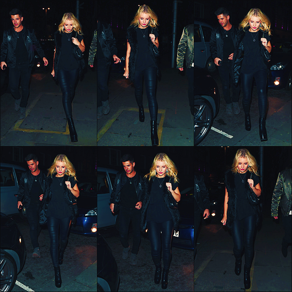 - 16 & 17/03/17 - Lottie toujours accompagnée à étaitaperçuearrivant au Raffles London Club àLondres. C'est dans le lendemain soir en robe que Lottie à était vu dans les rues de Londres. J'accordeun top à sa tenue! -