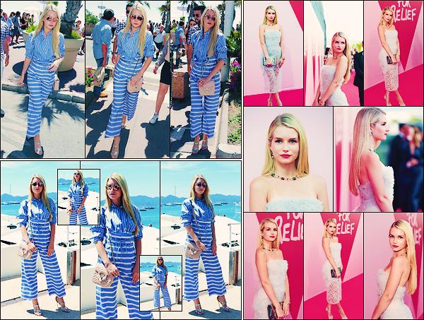 • 21 mai 2017 || C'est quittant l'hôtel Martinez en compagnie de Jasmine Sanders que Lottie à été apperçue à Cannes. Quelques heures après c'est sur le tapis rouge du gala de charité pour Fashion for Relifer que blondie à été vu. Un top !  •