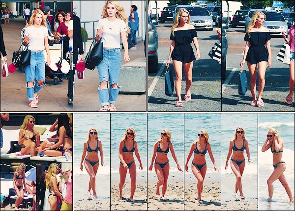 • 26, 27, 28 mai 2017 || C'est sur le sable fin de la plage que Miss Moss à été vu avec Emily à Marbella en Espagne. Elle à aussi été photographier arrivant à l'aéroport de Marbella ainsi que faisant du shopping. Encore un top pour blondie !  •
