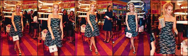 • 04 juillet 2017 || Lottie été présente à la Fashion Week pour « Bulgari » ce déroulant dans la capitale française, Paris. C'est dans une robe bustier noir et grise pailleté que notre belle Blondie à été photographier. Un petit top, je ne suis pas fan.  •
