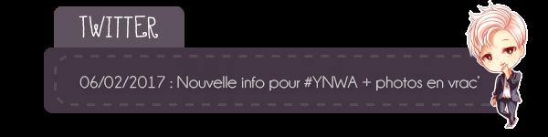 #Actu - suite photos pour YNWA + #Twitter- tracklist et photos