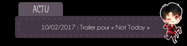 """#Actu - teaser de """"Not Today"""" + Twitter"""
