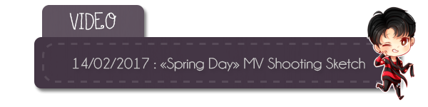 "#Video ""Spring Day"" MV Shooting Sketch + #RS - Weibo Twitter + infos"