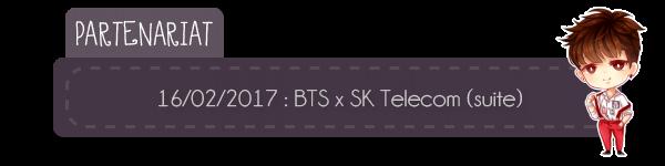 #Partenariat - Figurines et stickers BTS x SK Telecom + #Twitter