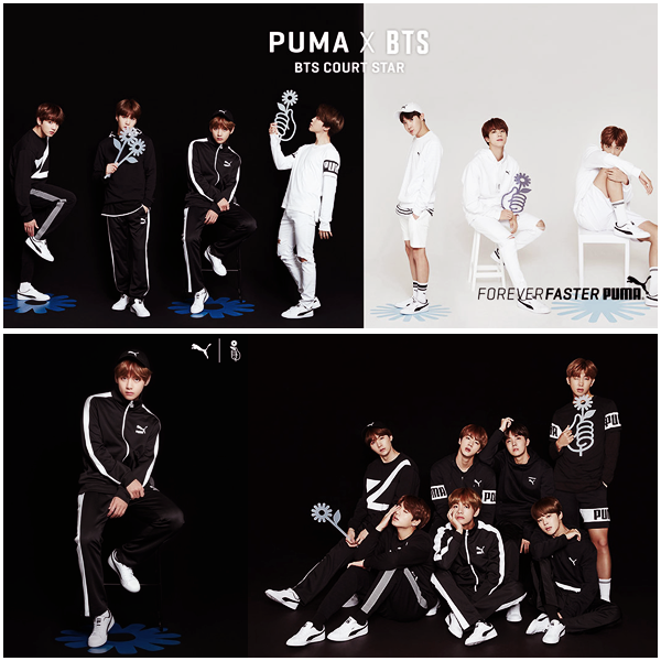Puma x BTS Courtstar Campaign
