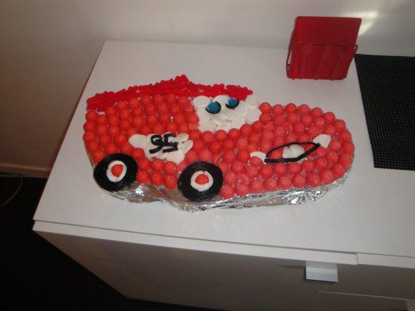 Gâteau de bonbons Flash Mc Queen !