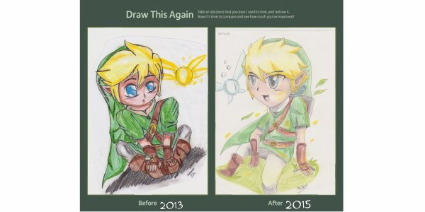 Draw this again chibi Link