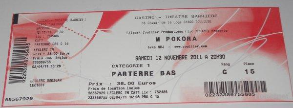 M.Pokora le 12/11/2011 à Toulouse