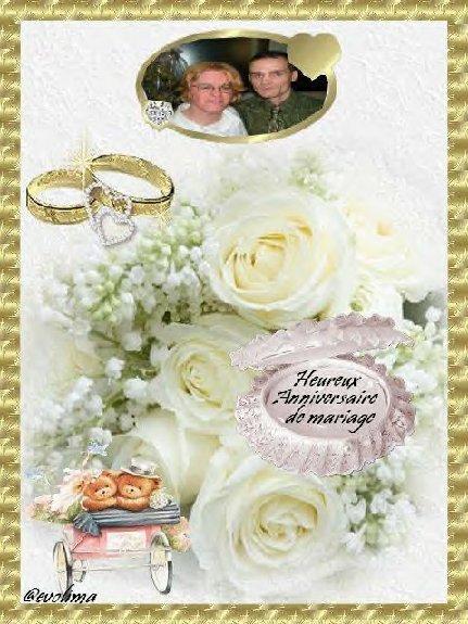 CADEAU RECU DE MON AMIE CHANTAL POUR NOS 5 ANS DE MARIAGE......ENCORE MILLE MERCI...FABRICE ET NATHALIE