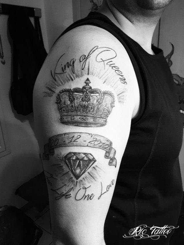 ric tattoo 06.19.88.58.27 / 04.91.50.80.04 /// couronne / diamant