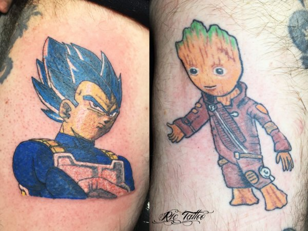 Ric Tattoo 06.19.88.58.27 / 04.91.50.80.04 /// Dragon Ball Z / Vegeta / Super Sayan / Les gardiens de la galaxie / Groot / Petit Groot / Groot bébé.