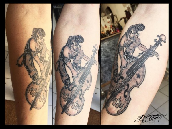 Ric Tattoo 06.19.88.58.27 / 04.91.50.80.04 /// Rock'A'Billy / Contre basse / Cat / Chat / Rock'N'Roll.