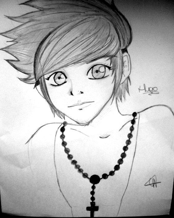 Caricature manga, sur demande.