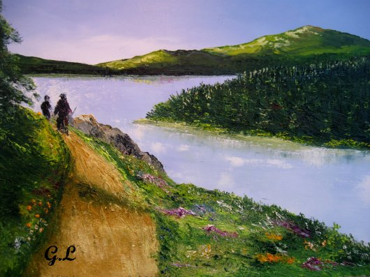 en haut du lac