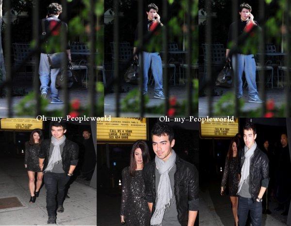 """Le 30 Novembre Nick arrive au studio a (LA) & Jashley était au club """"Voyeur"""""""