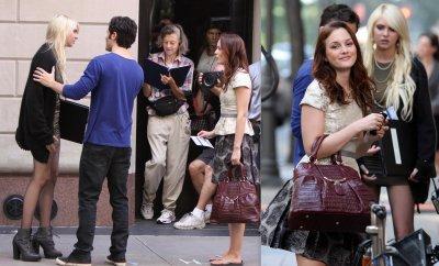 .  02/09/10 : Sur le Set de Gossip Girl.