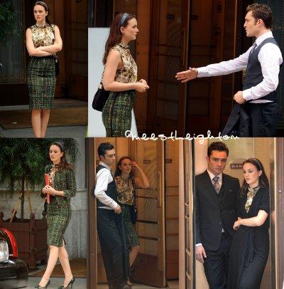 ~ Le 3/09/10 : Leighton en allant et étant sur le tournage de GG.