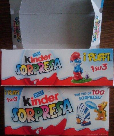 petites boîtes kinder italien version 2008 pour échange DISPONIBLE POUR ECHANGE
