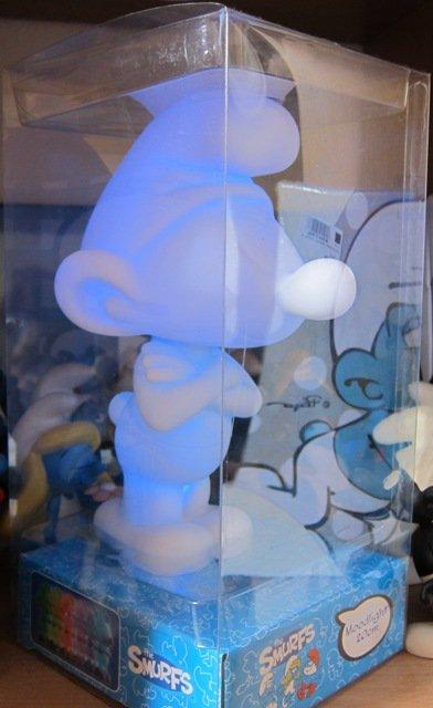 LAMPE SCHTROUMPF VINTAGE - 1983   ++  LAMPE CASA 2011 CHANGE DE COULEUR