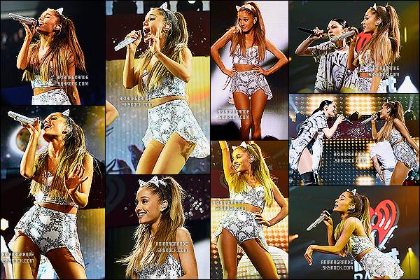 15/12/14 : Toujours au coté de Jessie J, Ari était au « Hot 99.5 Jingle Ball » au Verizon Center (US) !  Encore une fois elle à changer de tenue de scène qui est d'ailleurs très belle ! Ariana continue de faire la promo de ses titres !  top/flop ?!