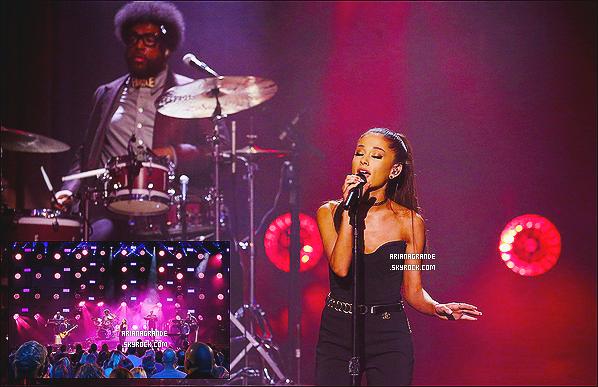 * 01/02/15 : Ariana Grande a performé lors du « The Tonight Show with Jimmy Fallon » dans - New-York.  Plus: La jolie brune a interprété son nouveau single « One Last Time ». Puis a posté deux photos sur Twitter en remerciement, 1 - 2 *