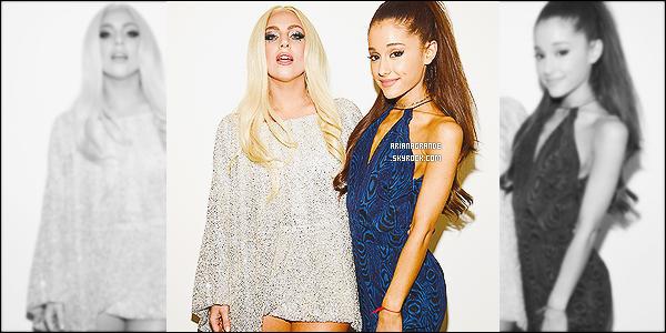 * 10/02/15 : Ariana Grande a performé à l'occasion du «All-Star Grammy Salute» qui se tenait à Los Angeles.  Plus: Ari' Grande a eu l'honneur de chanter sur scène avec l'artiste de la soirée, Stevie Wonder. -De plus, elle a posé avec Lady Gaga.*