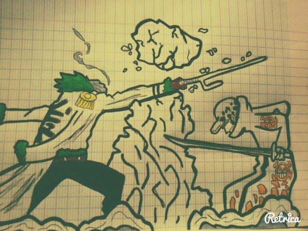 One Piece // SMOKER vs TRAFALGAR LAW