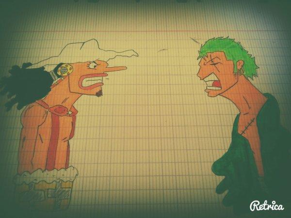 One Piece // USSOP & ZORO