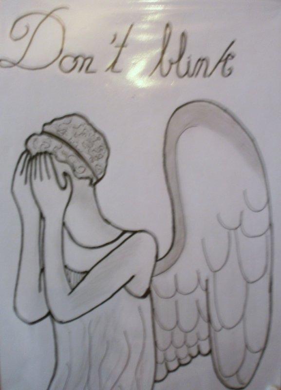 Dessin: ange pleureur