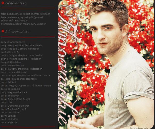 Filmographie Robert Pattinson