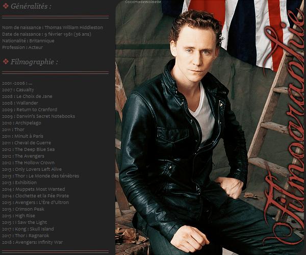 Filmographie Tom Hiddleston