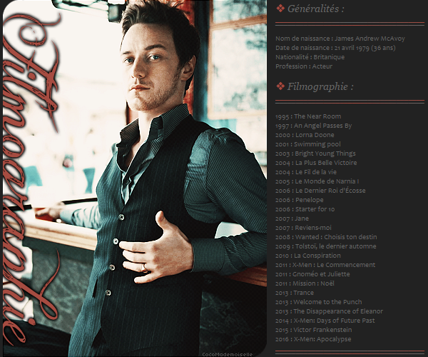 Filmographie James McAvoy