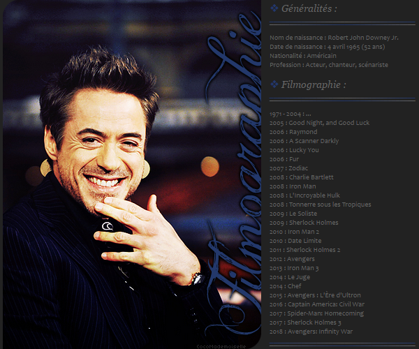 Filmographie Robert Downey Jr.