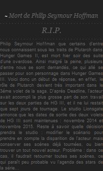 R.I.P. Philip Seymour Hoffman