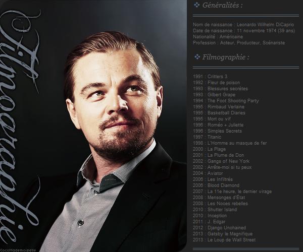 Filmographie Leonardo DiCaprio