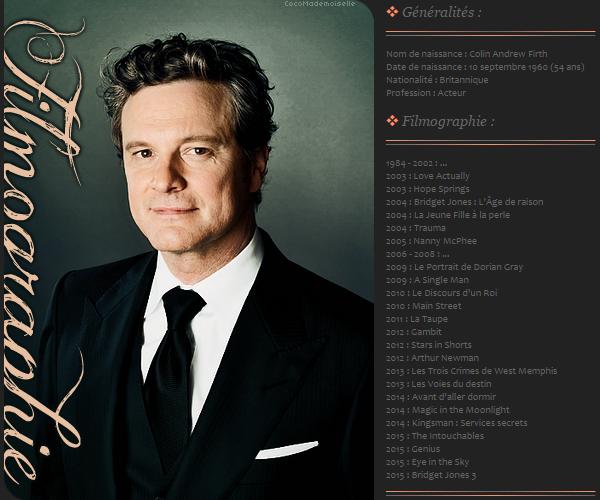 Filmographie Colin Firth