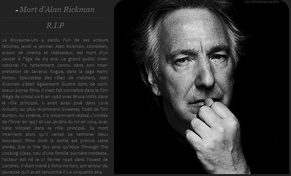 R.I.P Alan Rickman