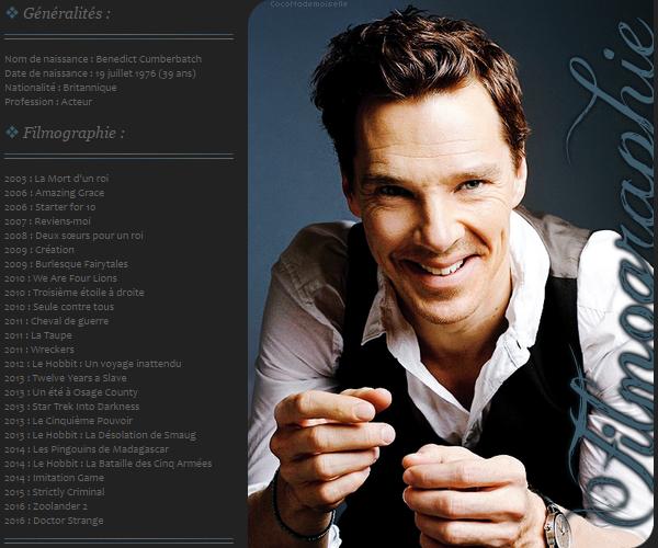 Filmographie Benedict Cumberbatch