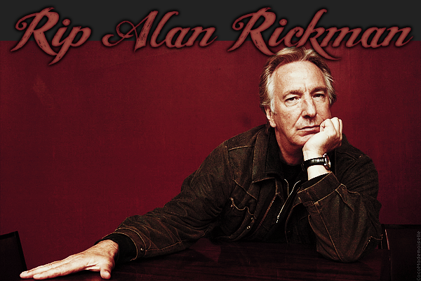 14 Janvier 2016 - Disparition d'Alan Rickman - 1an