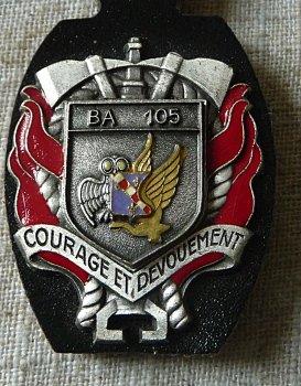 INSIGNE SERVICE INCENDIE BA 105 EVREUX
