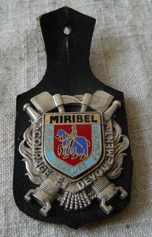 INSIGNE DE MIRIBEL 01 AIN