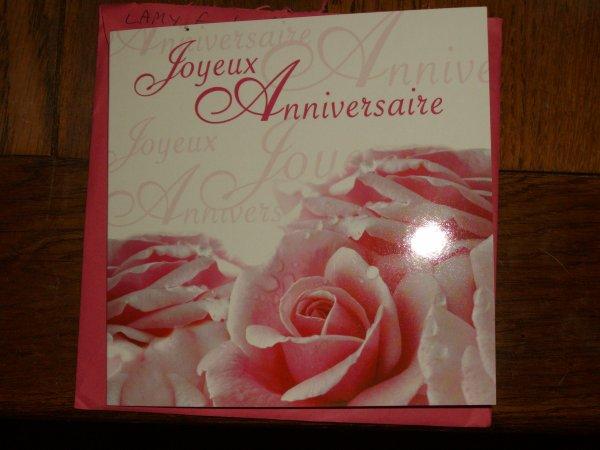 aujourd'hui j'ai reçu une très jolie carte de mon amie Françoise (faro) tu ne m'oublie jamais ,Merci biloute